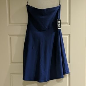 Express strapless dress with nonslip top